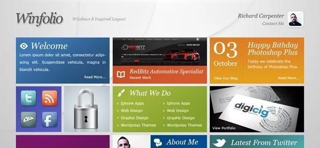 result big - Website Layouts: 50 Professional Photoshop Tutorials