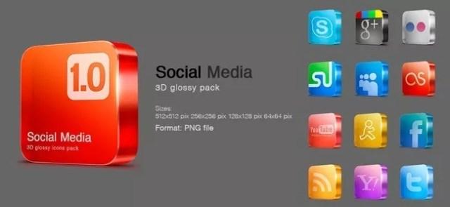 social icons - 60 Gorgeous Free Social Media Icon Packs