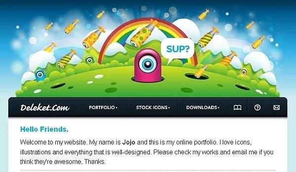 deleketcom - Showcase of Colorful Portfolio Designs