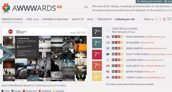 AWWWARDS - 25+ Best CSS Web Design Galleries