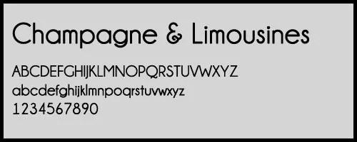 Champagne Limousines - 25+ Famous, Sleek and Elegant Fonts