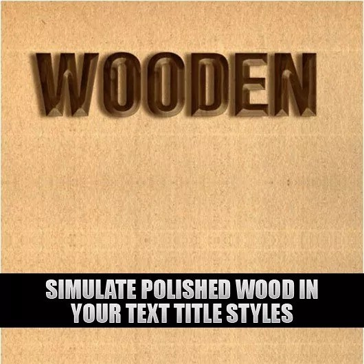 Photoshop Guide Simulate Polished Wood in your Text Title Styles 5301 - Photoshop Guide: Simulate polished wood in your text title styles