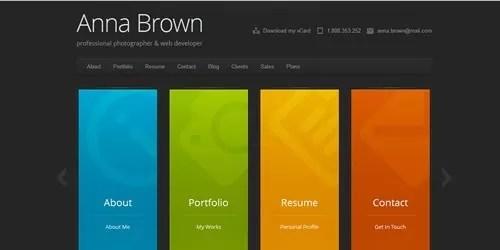 cascade vcard wordpress theme - Best WordPress Themes to Help You Create an Online Resume