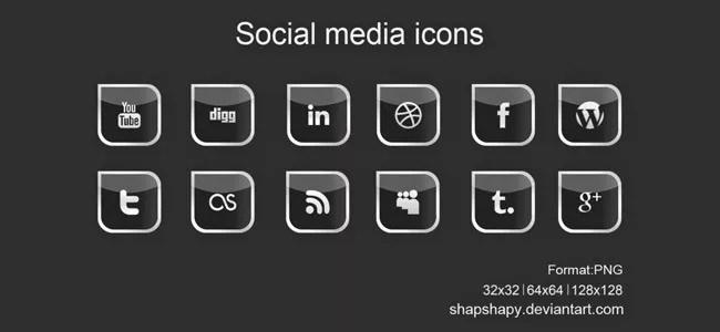 SocialMediaIcon10 - Free Social Media Icons 18 Sets
