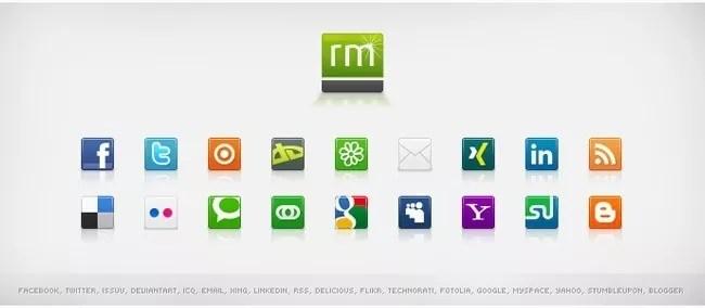 SocialMediaIcon6 - Free Social Media Icons 18 Sets