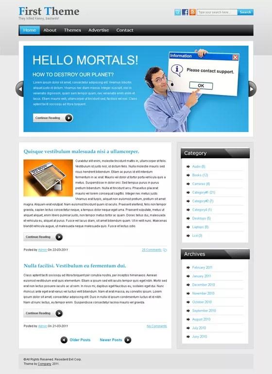 am blogger - Blogger Free WordPress Theme