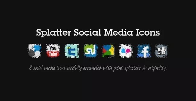 splatter social icons11 - Free Social Media Icons 18 Sets