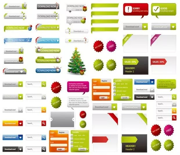 webele large vectorgab - Web Page Design Elements