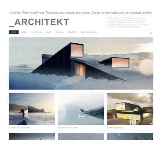 Architekt - 20+ Cool and Free WordPress Themes