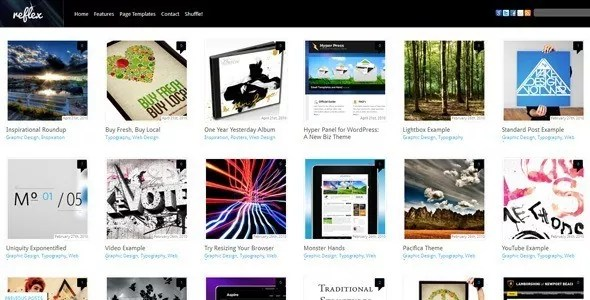 Reflex - Top 25 Pinterest Inspired WordPress Themes 2012