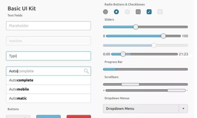 Basic UI Kit - PSD Free Web Elements