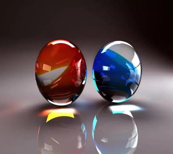 Glass Eggs - 20 Beautiful & Cool iPad Wallpapers