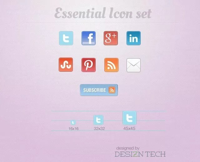 essential iconset preview - Free Download: Essential Social Media Icon Set