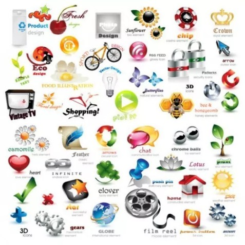 iconsetsall large vectorgab - Collection of exquisite three dimensional icon vector