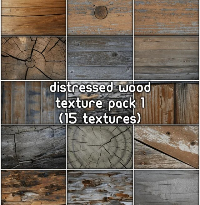Distressed Wood Texture Pack