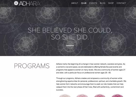 Adhara NY - 25 Awesome Examples of White Space in Web Design