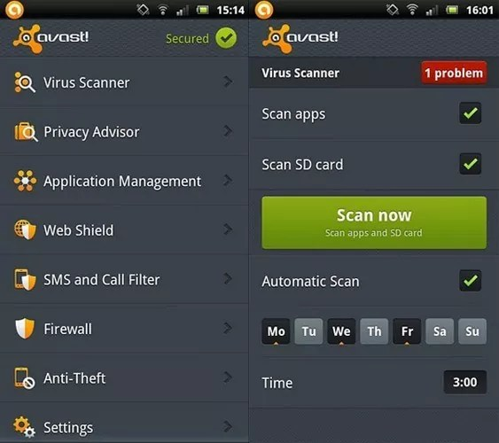 Avast Mobile Security Android - Top 10 Security Apps for Samsung Galaxy S3 to Safeguard Your Mobile and Data