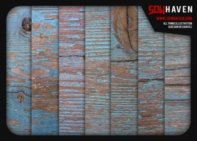 Weathered Blue Wood Textures