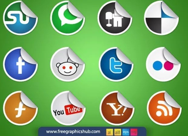 green thumb vectorgab - Social Media Icons – vector