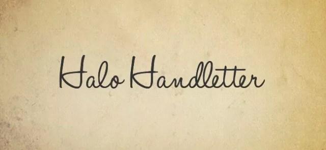 Halo Handletter - Free Handwritten Fonts