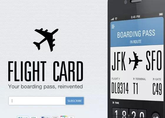 Flight Card - 35+ Inspiring iPhone App Websites