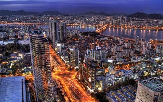 City Night Of Seoul Wallpaper Desktop Wide HD 1024x640 - 20 Free HD Cities Wallpapers
