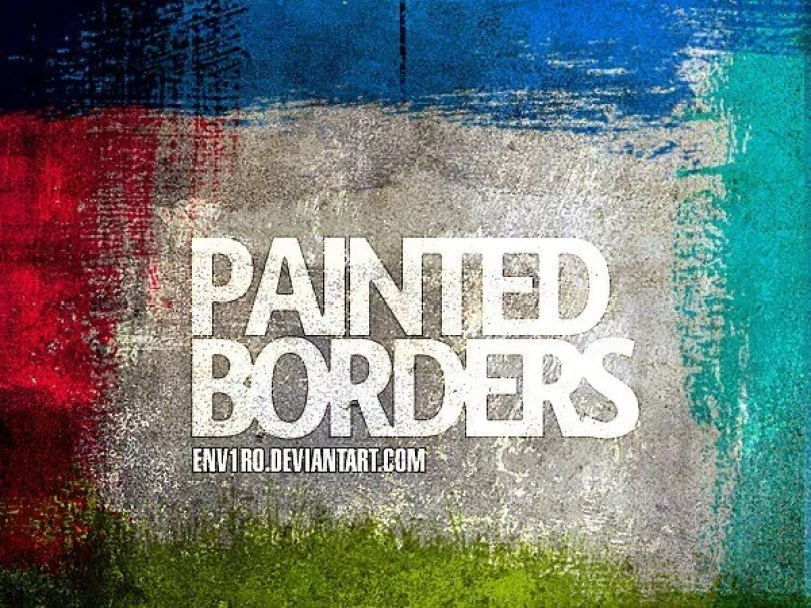 Paint Borders by env1ro - 30+ Sets of Free Photoshop Paint Brushes