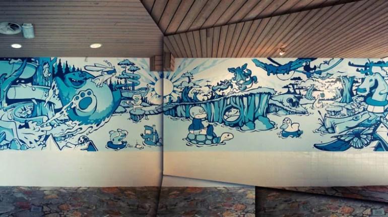 animal forest wall dizzy street art illustration1 - Art Of Wall Dizzy – Murals – Illustrations