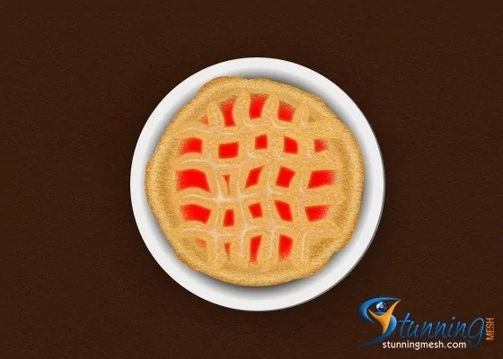 delicious pie design in photoshop Final Result - Delicious Pie Design in Photoshop