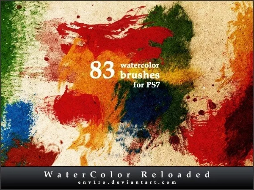 watercolor reloaded by healthfamily d4zyk3r - 30+ Sets of Free Photoshop Paint Brushes