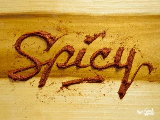 spicy full for site 624x468 - Delicious Food Typography Designs