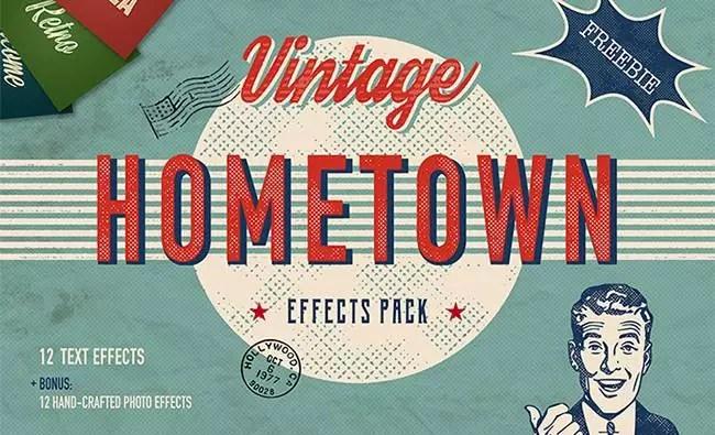 Hometown Vintage Effects Pack - Hometown Vintage Effects Pack