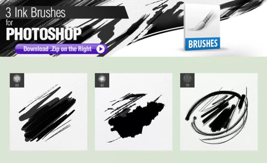 3 ink brushes for photoshop by pixelstains d8l9j23 1024x626 - Free Ink and Watercolor Brushes for Photoshop