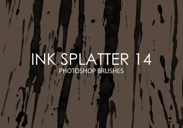 free ink splatter photoshop brushes 14 - Free Ink and Watercolor Brush Sets for Photoshop