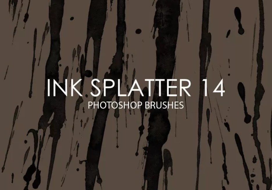 free ink splatter photoshop brushes 14 - Free Ink and Watercolor Brushes for Photoshop
