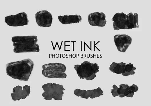 free wet ink photoshop brushes 3 - Free Ink and Watercolor Brush Sets for Photoshop