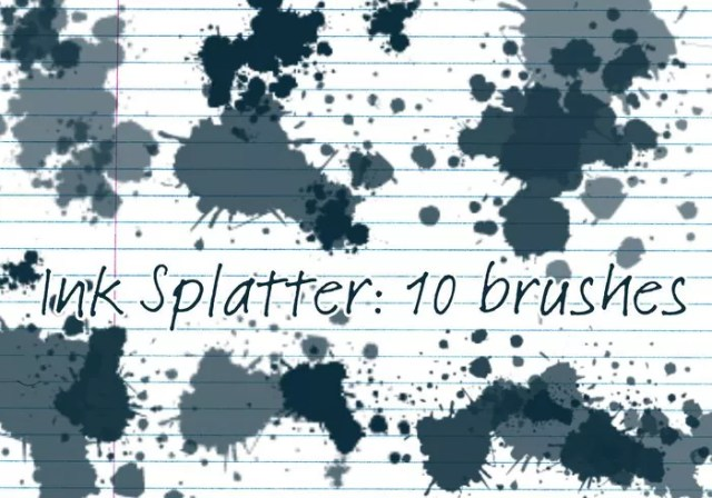 ink splatter brushes - Free Ink and Watercolor Brushes for Photoshop