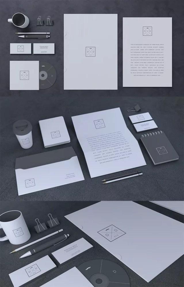 Blank Stationery Branding Mock Up - 60+ Branding, Identity & Stationery Free PSD Mockups