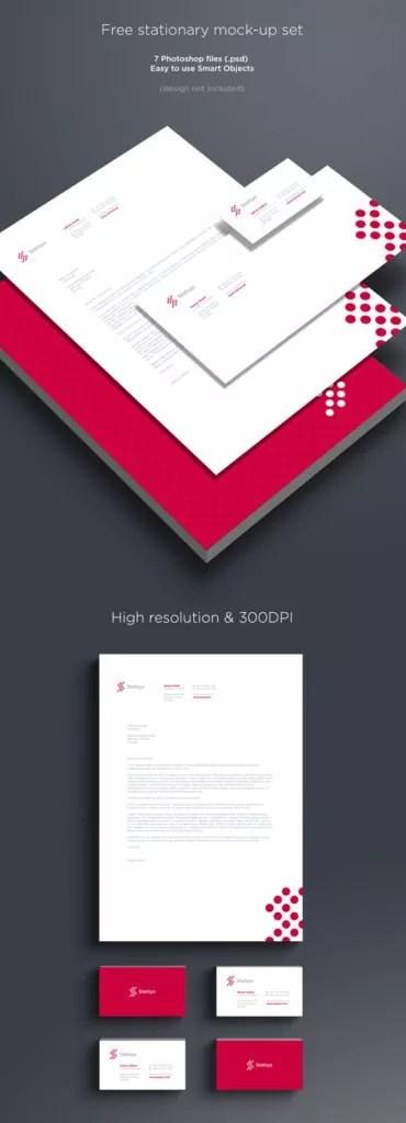 Free Branding Stationary Mock up Set 370x1024 1 370x1024 - 60+ Branding, Identity & Stationery Free PSD Mockups