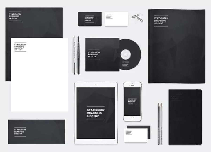 Free stationery branding mockup pack - 60+ Branding, Identity & Stationery Free PSD Mockups