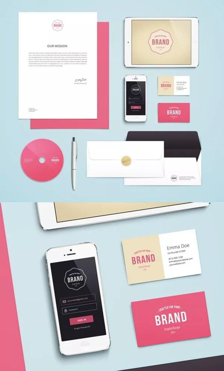 Freebie Branding Identity Mock Up Download - 60+ Branding, Identity & Stationery Free PSD Mockups