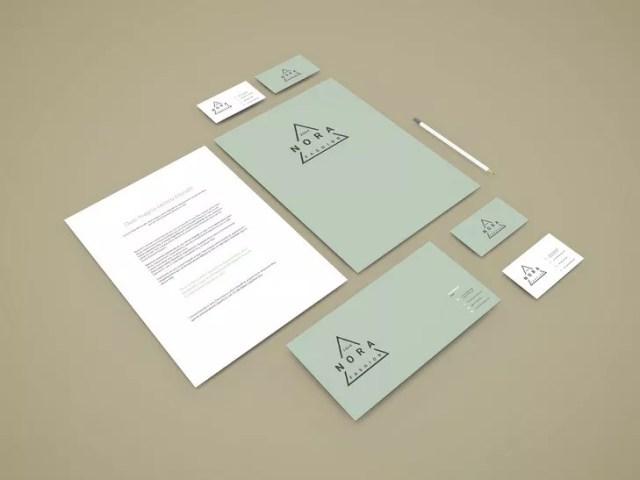 Perspective Branding Stationery Mockup - 60+ Branding, Identity & Stationery Free PSD Mockups