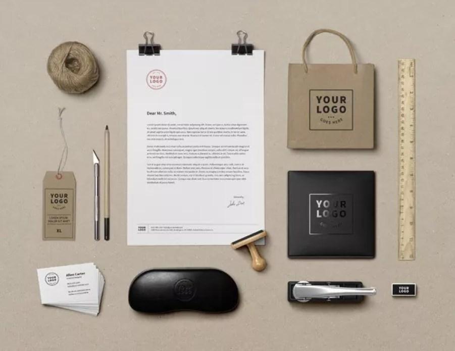 branding identity mockup - 60+ Branding, Identity & Stationery Free PSD Mockups