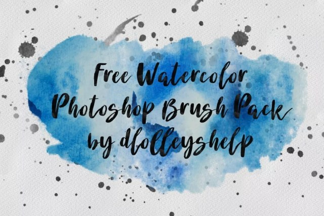 Free Watercolor Photoshop Brushes - Free Ink and Watercolor Brushes for Photoshop
