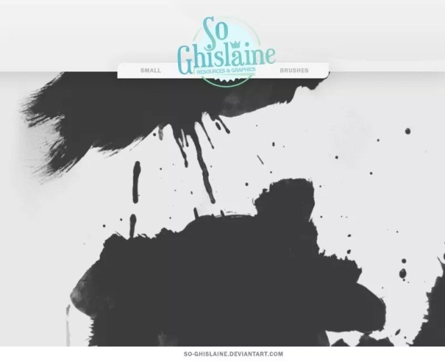 Paint Splashes Brushes - Free Ink and Watercolor Brushes for Photoshop