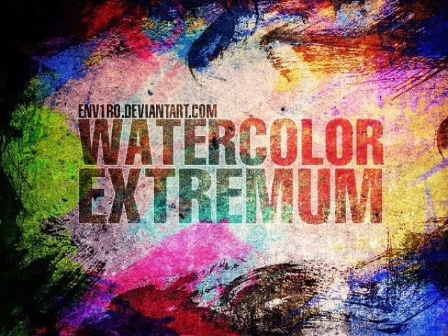 WaterColor EXTREMUM - Free Ink and Watercolor Brush Sets for Photoshop