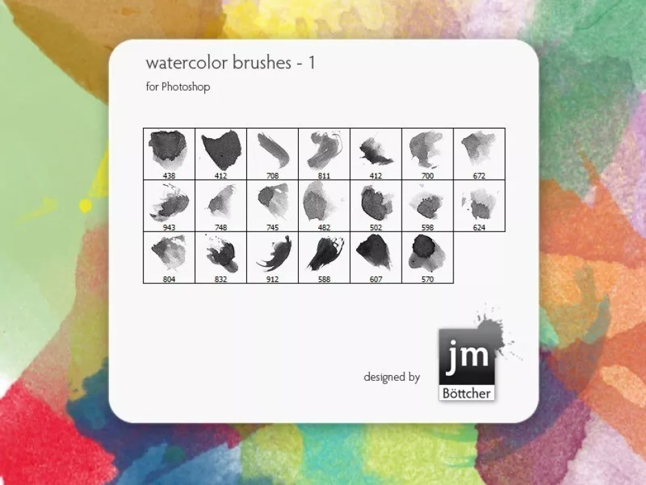 Watercolor Brushes 1 - Free Ink and Watercolor Brushes for Photoshop
