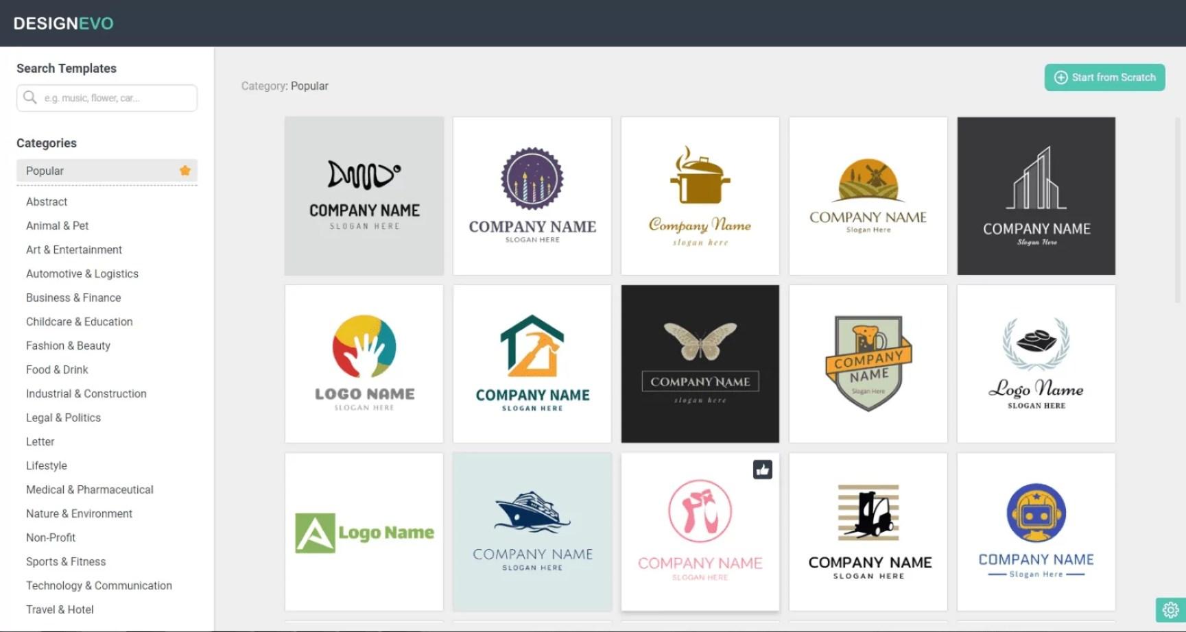 word image - Make Professional Logos Online with DesignEvo Logo Maker