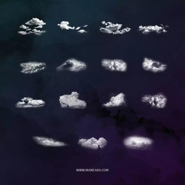 photoshop cloud brushes all - 40+ Beautiful Photoshop Cloud Brushes