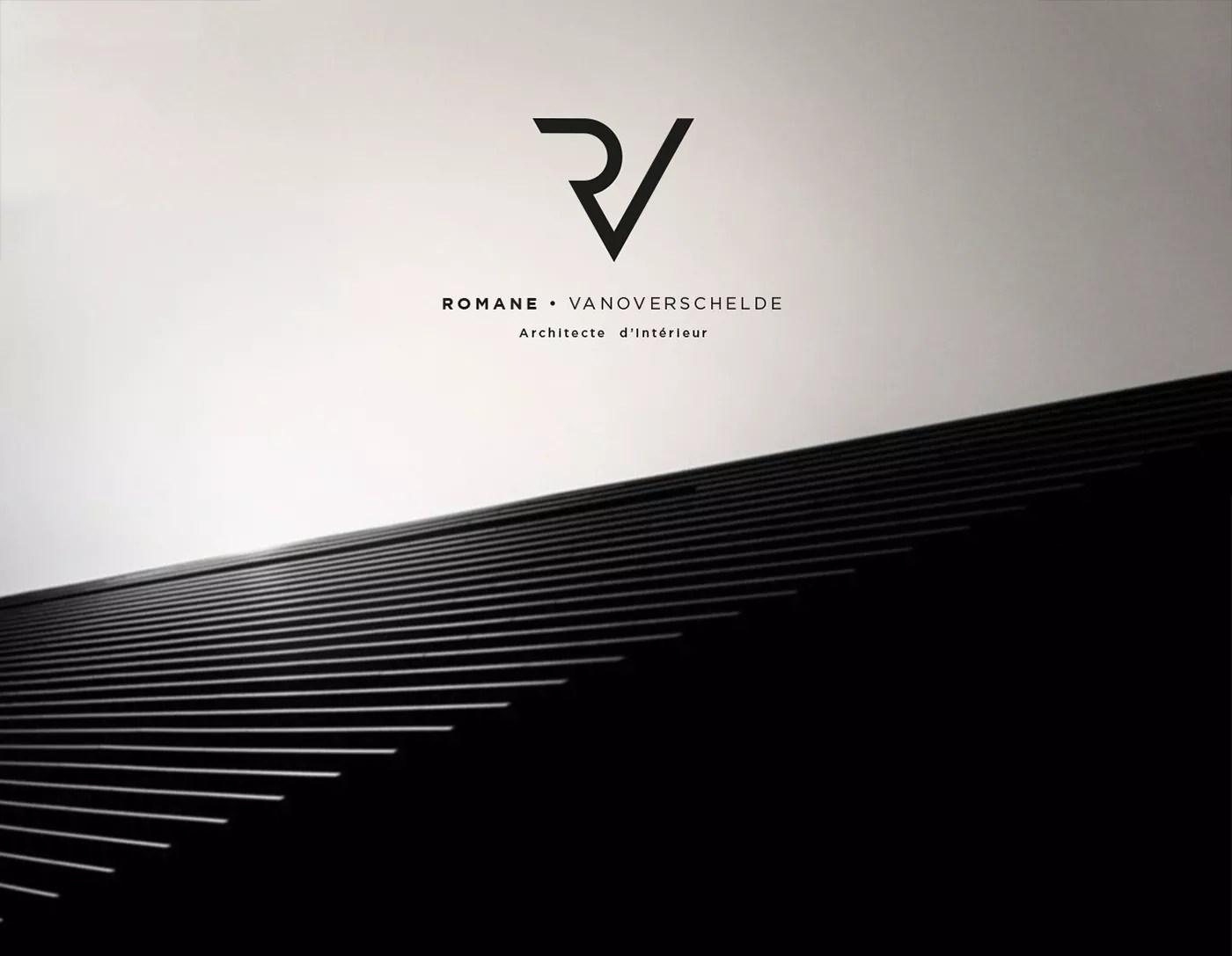 Romane Architecte dInterieur Brand identity 1 - Architecture Logo Design Examples for Inspiration